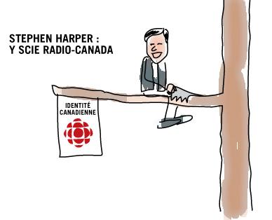 Stephen Harper coupe dans l'identité canadienne